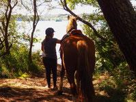 promenade a cheval etang blanc soustons