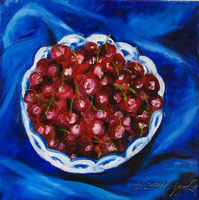 LIFE (a bowl of cherries), 30/30cm oil on canvas