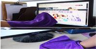 Bürobedarf: Büro Reinigungstücher für Ihre Komputer, Microfasertücher für Reinigung günstig mit Logo