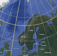 @ Google earth , Cercle Arctique