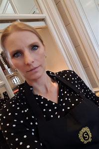 Martina Enthammer im Sacher Grill