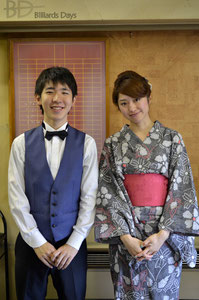 イベントの功労者は10代と20代。森雄介選手&江辺香織プロ(JPBA)
