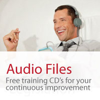 Audio Files for training. Man with headphones
