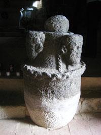 Bénitier romain aux trois têtes