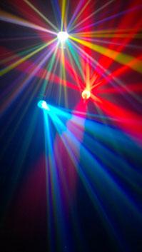 LED Lichtanlage - Discoeffekte Multicolor