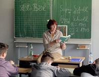 Lesung bei den Schülern der 6Ra in Bensheim, Geschwister-Scholl-Gesamtschule, am 22.2.2019