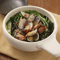 海苔とあさりのピリ辛鍋