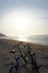 終わりに日本海を見て、明日への英気を養う