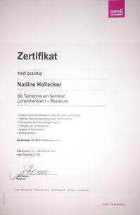Lymphologie I Nadine Hollecker
