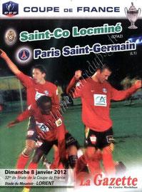 2012-01-08  Locminé-PSG (32ème Finale CF à Lorient)