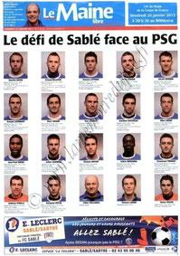2012-01-20  Sablé-sur-Sarthe-PSG (16ème Finale CF au Mans, Le Maine libre)