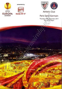 2011-09-29  Athletic Bilbao-PSG (2ème poule C3, Programme officiel)