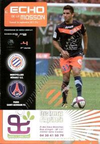 2011-09-24  Montpellier-PSG (8ème L1, L'echo de la Mosson N°4)