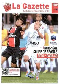 2012-02-15  Dijon-PSG (8ème Finale CF, La Gazette du DFCO N° HS05)