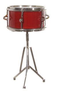 Trommel in rot-silber - 10 cm