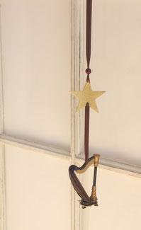 Harfe aus Holz, 12 cm lang auch zum Basteln geeignet
