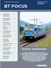 Titelbild auf dem Bombardier Mitarbeiter-Magazin Nr.2 2013