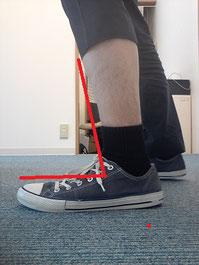 美脚の角度