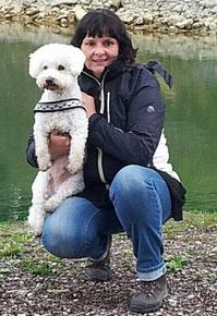 Cornelia Lareida mit Chester