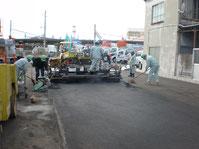 出入口 舗装工事写真1