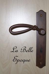 Poignée de porte fer rouillé chambre la Belle Epoque chambres d'hôtes de Ker Holen à St-Lyphard