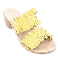 sandali colore giallo a fasce intrecciati