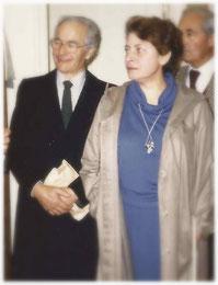 Nicole Le Roy et Paul Rivière à gauche