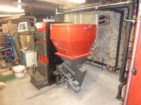Chaudière bois Mixte Granulé & Bûches Combiburn DC 30 kW, Trémie granulés de 240 kg, brûleur granulés, Foyer bûche de 90 litres, 73170 Loisieux