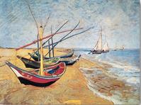 """V. Van Gogh     """"Barche sulla spiaggia"""""""