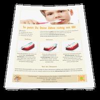 Schriftliche Putzanleitung für´s Badezimmer von Ihrer Zahnarztpraxis (© Doc S)
