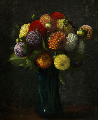 Bouquet de Dahlias, 1874
