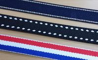 ゴム糸を組み合わせた細巾織物