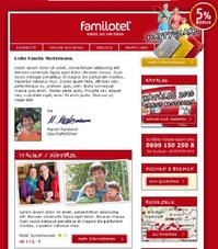 Newsletter Redesign für familotel