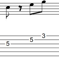 ギターアドリブ入門講座(初心者) 2拍パターン2-2