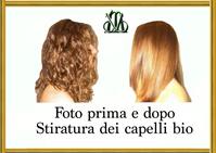 Stiratura  dei capelli foto cheratina