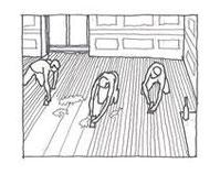 床を削る人々(ギュスターブカイユボット)1875