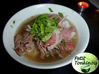 Soupe traditionnelle Pho (pâtes de riz, boeuf)