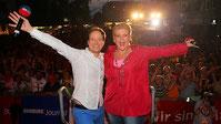 Die Moderatoren auf der Sommertour 2016 Anke Harnack und Christian Buhk Bild: NDR