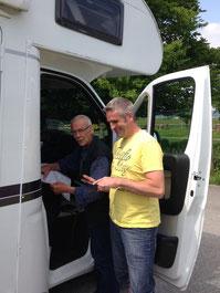 Unser Verpflegungsteam: Werner und Jens
