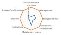 évaluation de processus par la mise en place d'une mesure de la maturité.