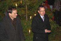 Links: Joachim Schmidt (Vorsitzender des Bürgerverein) und Rechts: Oliver Igel (Bezirksbürgermeister Treptow-Köpenick)