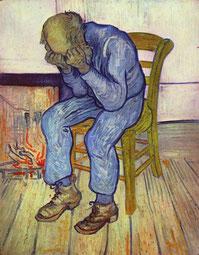 An der Schwelle zur Ewigkeit. Gemälde von Vincent van Gogh, 1890. Wikimedia Commons.