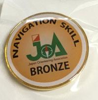 ブロンズレベルのJOA認定バッジ