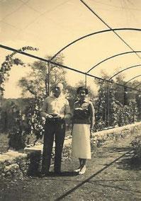Вера Сабанеева-Ланская с мужем графом Николаем Ланским. Ницца 1970