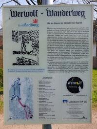 Werwolf Wanderweg, Bedburg, Infotafel