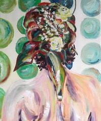 F... moi la Paix ! Peinture à l'huile, Claire ALLARD, scène de vie