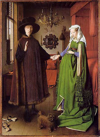 The Arnolfini Marriage by Jan van Eyck, 1434 (flickr, picture by Benedikte Vanderweeen)