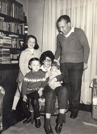Diana, Roberto, Ruth, Rosa, Pedro und Gerd Frankenthal (1968)