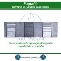 Esempio di varie tipologie di rugosita su metallo derivanti da differenti lavorazioni