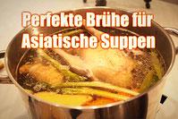 Brühe Suppe Schweineknochen Huhn Rezept Asia asiatisch